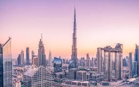 تحميل خلفيات برج خليفة في الصباح وسط المدينة ناطحات السحاب