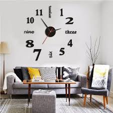 Home Wall Sticker English Numbers Diy Small Clock Red Modern Decal Wall Clock Home Kitchen Roman Diy Mirrors Wall Clocks Aliexpress