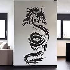 Chinese Tribal Dragon Tattoo Wall Decal Sticker Decor Wall Art Vinyl Mural Amazon Com