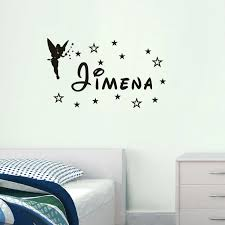 Wall Decal Customize Name Angel Star Girl Room Wall Sticker Bedroom Vinyl Wall Decals Diy Custom Name Wall Sticker Ym 141 Name Wall Stickers Wall Stickerwall Sticker Name Aliexpress