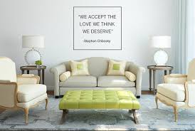 We Accept The Love Quote Wall Decal Egraphicstore