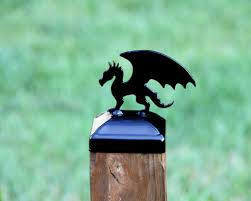 Dragon Post Cap For 4x4 Wood Fence Post Gothic Mid Evil Fence Decor Madison Iron And Wood