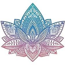 Amazon Com Divine Designs Beautiful Tribal Henna Pattern Lotus Flower Pink Blue Ombre Vinyl Decal Sticker 8 Wide Automotive