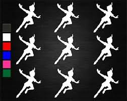 9 X Peter Pan Flying Wine Glass Jar Decal Stickers Party Art Crafts Window 2 Ebay