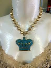 crown on pearl necklace by ataggirl