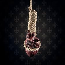 photo wallpaper heart on a noose