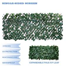 Buy E K Sunrise Faux Ivy Privacy Fence Screen With Expand Retractable Panel Artificial Leaf Vine Hedge Outdoor Decor Garden Backyard Decoration Panels Fence Cover Set Of 2 In Cheap Price On Alibaba Com