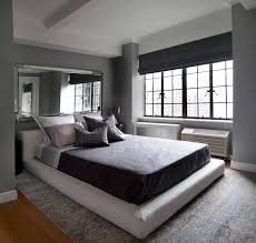 bedroom redesign with mirror over bed