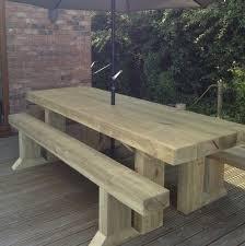 wooden sleeper outside or inside table