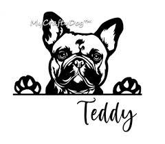 French Bulldog Peeking Dog Car Decal Sticker Frenchie Vinyl Decal