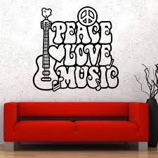 Wall Vinyl Music Hippie Peace Love Flower Guaranteed Quality Decal Vinyl Sandal Vinyl Decals Autovinyl Floor Decals Aliexpress