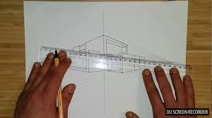 apprendre à dessiner maison moderne