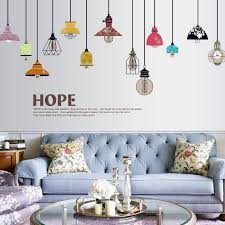 93 115cm 36 6 61inch Colorful Pendant Light Wall Decals For Bedrooms Home Decoration F Wall Stickers Living Room Wall Stickers Home Decor Wall Stickers Murals