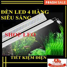 Đèn led thủy sinh cho bể 30-43cm (4 hàng led) - đèn led hồ cá thủy sinh  siêu sáng - đèn hồ cá - Đèn bể cá giá rẻ