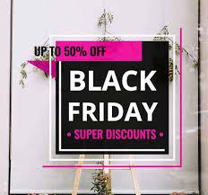 Pink Black Friday Sales Window Sticker Tenstickers