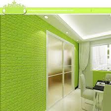 Pe Foam 3d Wall Stickers Embossed Brick Waterproof Geen Brick Wall Home 1000x1000 Download Hd Wallpaper Wallpapertip