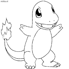 Cute Charmander Pokemon Coloring Pages