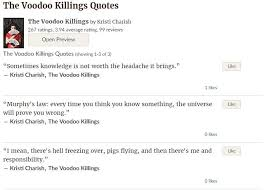 goodreads quotes for the voodoo killings workaday services