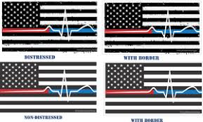 Back The Red Blue Decal Thin Blue Red Line Flag Ems Vinyl Dreams By Hope