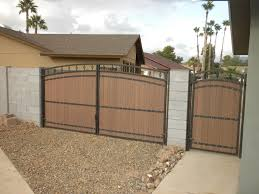 Cool Rv Gate And Man Gate With Faux Wood Panels And Arched Detail Backyard Gates Arlington House Diy Patio