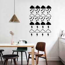 Cloud With Rain Wall Decals Wallpaper Lightning Raindrop Cloud Wall Stickers Modern Kids Room Cute Wall Decor Poster Buy At The Price Of 1 19 In Aliexpress Com Imall Com