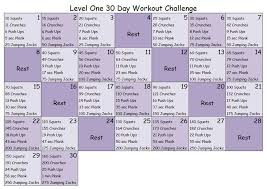 30 day workout challenge level 1 30
