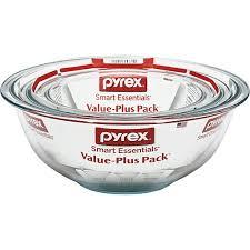 pyrex value plus pack glass bowls 3