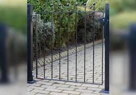 metpost wenlock small metal garden gate
