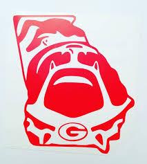 Vinyl Decal Georgia Bulldogs Decal Go Dawgs Georgia Dawgs Georgia Bulldogs Football Bulldog Decor