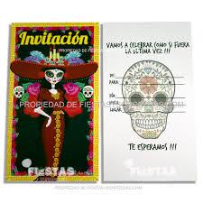 Tarjetas De Invitacion Catrina Paquete X 10 Fiestas Y Sorpresas