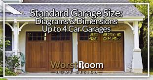 standard garage size diagrams