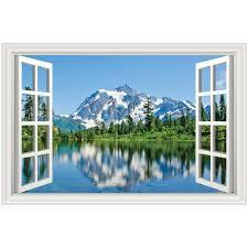 Mountain Scene 5 Lake Landscape Rear Window Decal Graphic Truck Suv