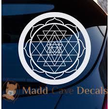 Sri Yantra Triangle Decal Car Window Laptop Tumbler