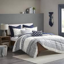 INK+IVY King/Cal King 100% Cotton Printed Comforter Set W ...