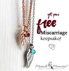 free miscarriage keepsake gift necklace