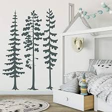 Amazon Com Byron Hoyle Pine Tree Forest Wall Decals Woodland Nursery Wall Decor Large Wall Decals Tree Wall Decal Nursery Kids Room Decor Tree Wall Art 279 Home Kitchen