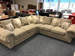 venice large corner sofa grey fabric