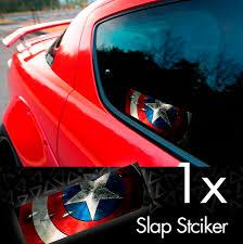 Buy Steve Rogers Shield Star Comic Printed Box Slap Bumper Car Vinyl Sticker