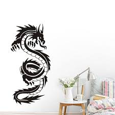 Vintage Chinese Dragon Silhouette Wall Stickers Hot Selling For Teens Boys Room Vinyl Wall Art Decals Stickers Muraux Wall Cling Decals Wall Cling Ons From Joystickers 8 96 Dhgate Com
