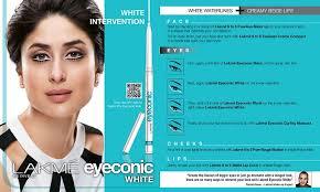 lakme eyeconic white kajal how to look
