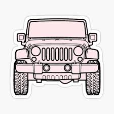 Pink Jeep Stickers Redbubble