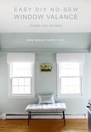 easy diy no sew window valance design