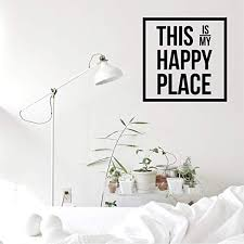 Amazon Com Vinyl Wall Art Decal This Is My Happy Place 23 X 23 Inspirational Workplace Bedroom Apartment Decor Decals Positive Modern Indoor Outdoor Home Living Room Office Quotes