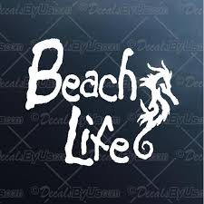 Seahorse Beach Life Decal Seahorse Beach Life Car Sticker New Designs