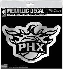 Amazon Com Phoenix Suns S74102 Metallic Window Decals Sports Outdoors