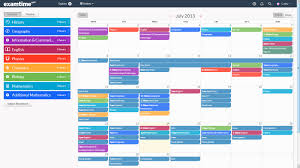 create a revision timetable with