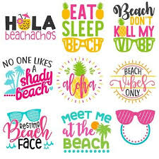 Summer Quote Vinyl Decal Sea Beach Sticker For Car Laptop Tumbler Ebay