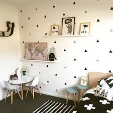 Little Triangles Wall Decals For Baby Boy S Room Removable Decorative Wall Stickers For Nursery Wall Decor In 2020 Kids Room Wall Decor Kids Room Wall Decals Kids Room Wall