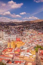 mexico city houses mountains street