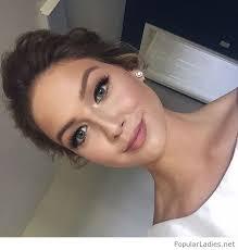 glam but simple wedding makeup